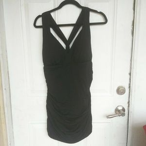 LRL Tummy Control Halter Swim Dress